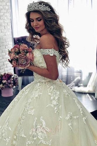 Robe de mariée Manche Courte Luxueux A-ligne Poire Dentelle Dos nu - Page 4