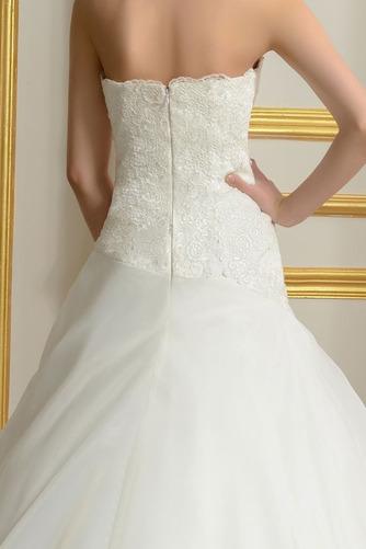 Robe de mariée Sans courroies Été A-ligne Organza Naturel taille - Page 5