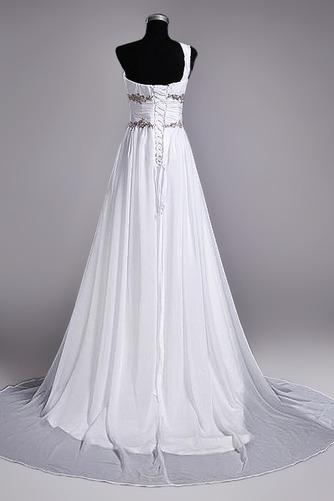 Robe de mariage Fourreau plissé Drapé Une épaule A-ligne Mousseline - Page 4