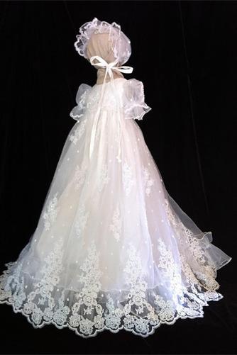 Robe de fille de fleur Dentelle Longue Princesse Chapeau Bébé - Page 1