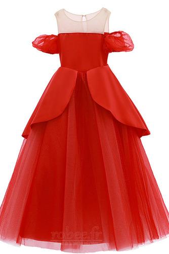 Robe de fille de fleur Tulle A-ligne Rosée épaule Trou De Serrure - Page 5