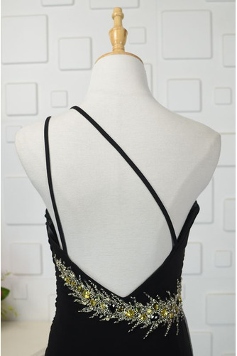 Robe de bal Noir Naturel taille Une épaule Longue Sans Manches - Page 5