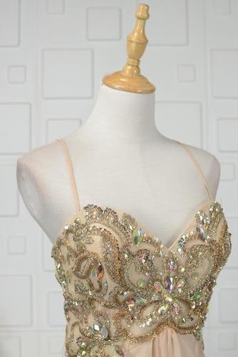 Robe de soirée Luxueux Mousseline Corsage Avec Bijoux Drapé Naturel taille - Page 4