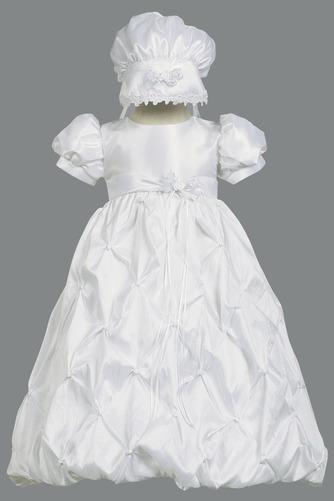 Robe de fille de fleur Princesse Longue Chapeau Nœud à Boucles - Page 1