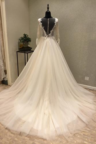 Robe de mariée Tulle Ample & Ornée Gaze Été Traîne Moyenne A-ligne - Page 2