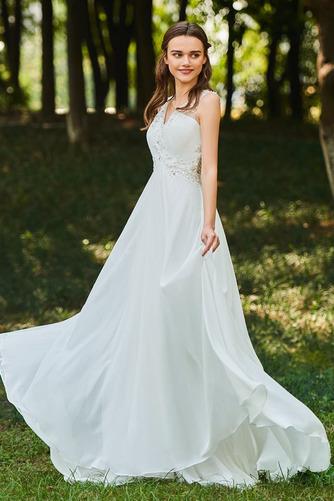 Robe de mariée Dos nu Col en V Drapé Sans Manches aligne De plein air - Page 2