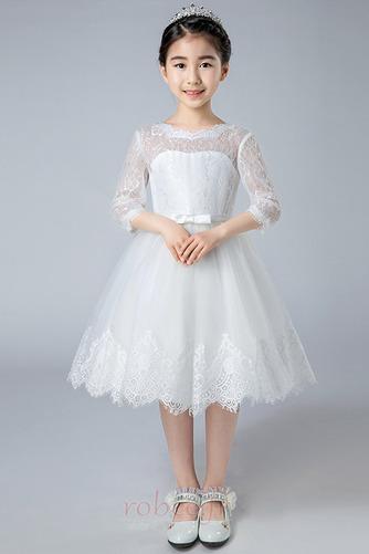 Robe de fille de fleur Dos nu Col de chemise t Couvert de Dentelle - Page 2