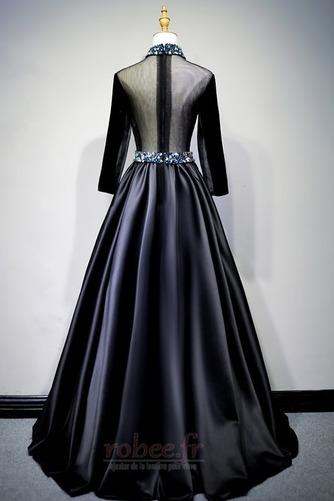 Robe de bal Fermeture éclair Montrer Luxueux A-ligne Col en V Foncé - Page 8