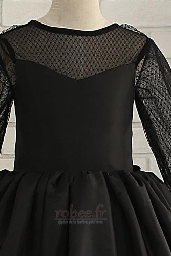 Robe de fille de fleur Elégant Manquant Satin Automne Col de chemise t - Page 3