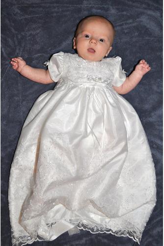 Robe de fille de fleur Manche Courte Longue Bouton Fermeture à glissière - Page 2