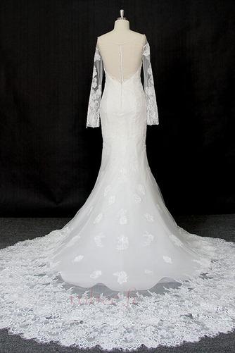 Robe de mariée Manche Longue Dentelle Eglise Col Bateau Formelle - Page 2