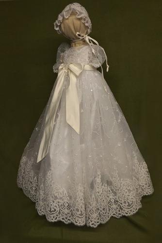 Robe de fille de fleur Princesse Dentelle Cérémonie Ceinture en Étoffe - Page 1