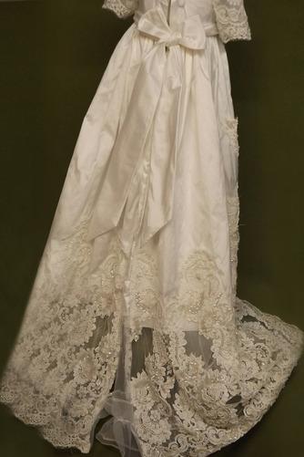 Robe de fille de fleur Manche Aérienne Naturel taille Princesse - Page 3