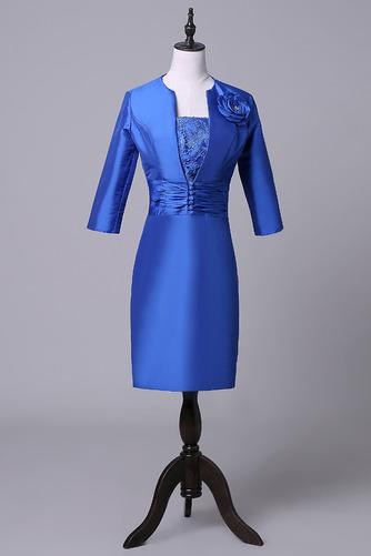 Robe mères Bleu Fer à cheval Fleurs Maigre Formelle Taffetas - Page 1
