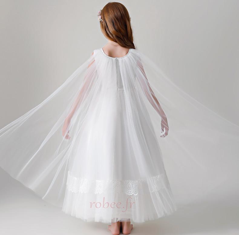 Robe de fille de fleur Tulle Haut Bas A-ligne Formelle Manquant 2