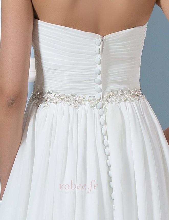 Robe de mariée Rivage Longue A-ligne Décolleté Dans le Dos Naturel taille 4