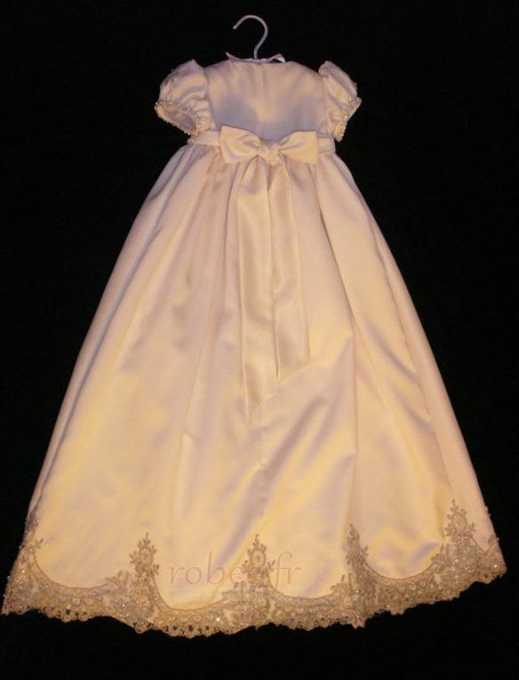 Robe de fille de fleur Princesse Petit collier circulaire Haute Couvert 2