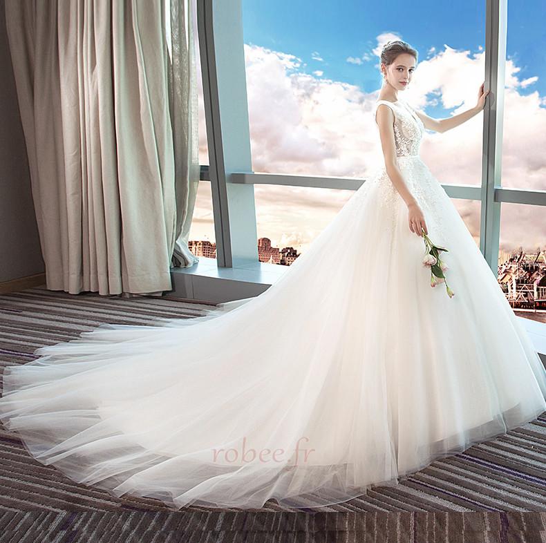 Robe de mariage Norme A-ligne Sans Manches Formelle Automne Naturel taille 4