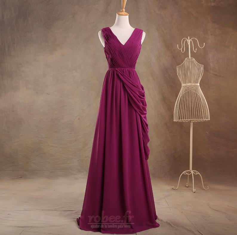 Robe de demoiselle d'honneur Luxueux Fermeture à glissière Mariage 1
