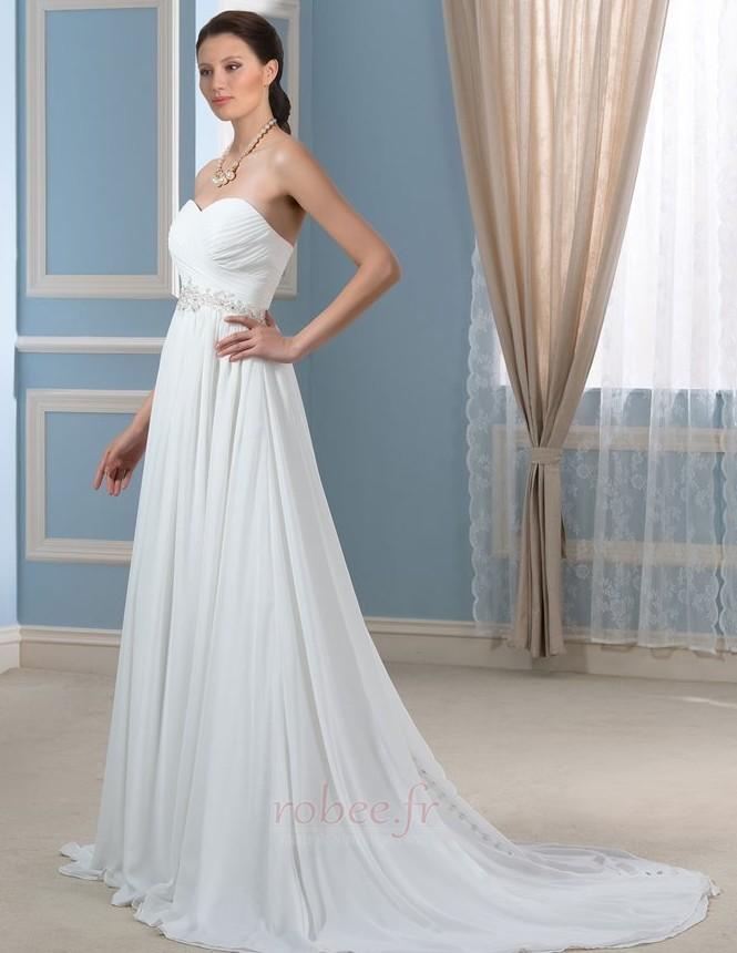 Robe de mariée Rivage Longue A-ligne Décolleté Dans le Dos Naturel taille 3