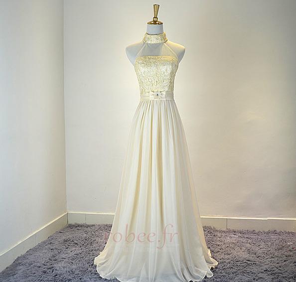 Robe de demoiselle d'honneur Mousseline Mariage Traîne Courte 1
