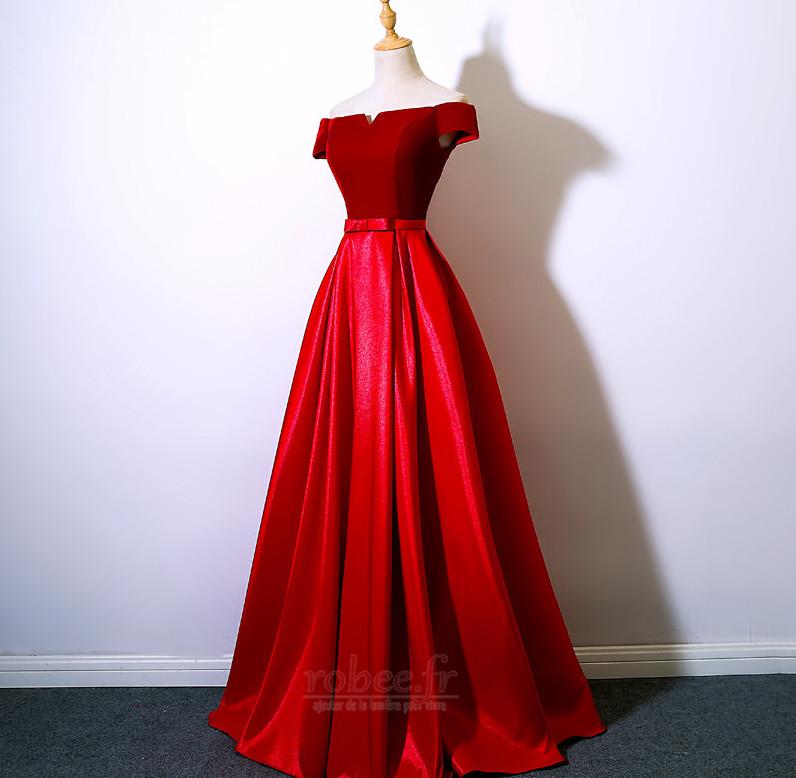 Robe de bal Laçage Rosée épaule Poches Fête Sans Manches a ligne 9