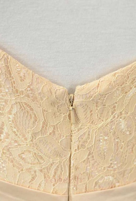 Robe de demoiselle d'honneur Longue Sans Manches Naturel taille 5