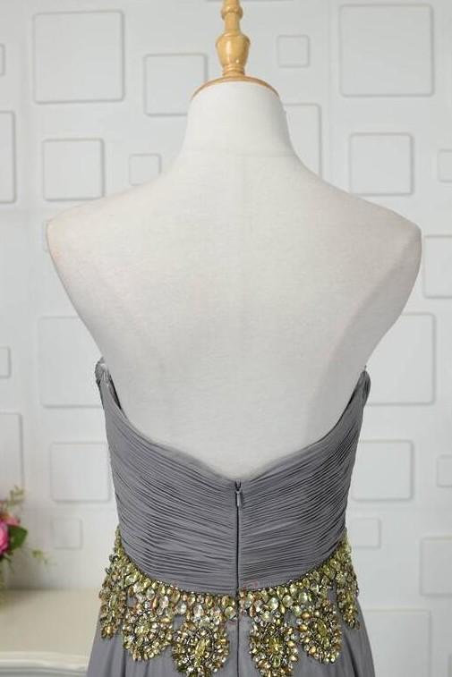Robe de bal Fermeture à glissière Asymétrique Printemps Mousseline 5