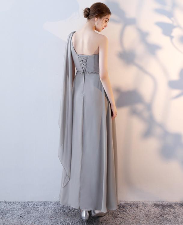 Robe de demoiselle d'honneur Laçage Sans Manches Mousseline A-ligne 12
