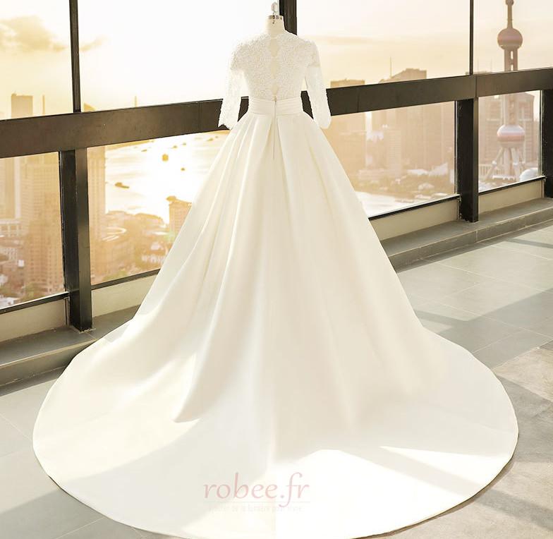 Robe de mariage Décalcomanie Trou De Serrure Manche de T-shirt 2