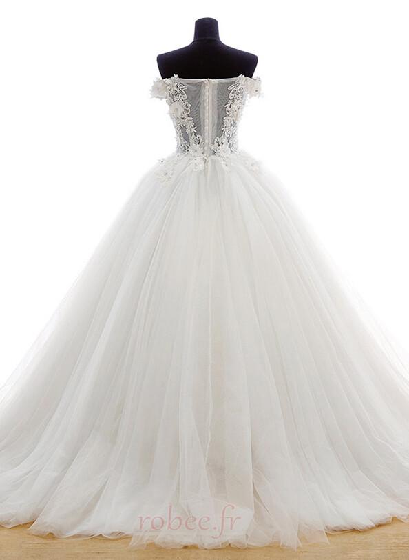 Robe de mariée Tulle Formelle Hiver Naturel taille Longue Princesse 2