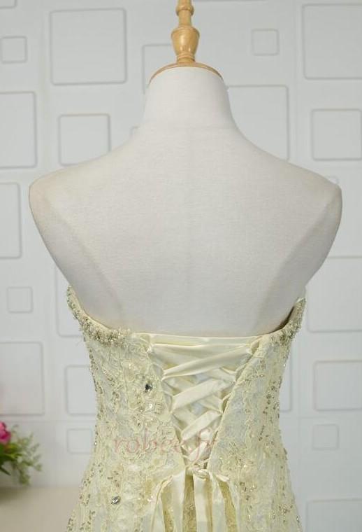 Robe de bal Moderne Sans Manches Naturel taille Ruchés Plongeants 5