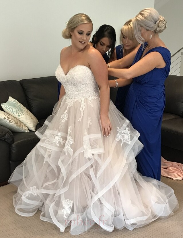 Robe de mariée Naturel taille Fermeture à glissière Printemps 1