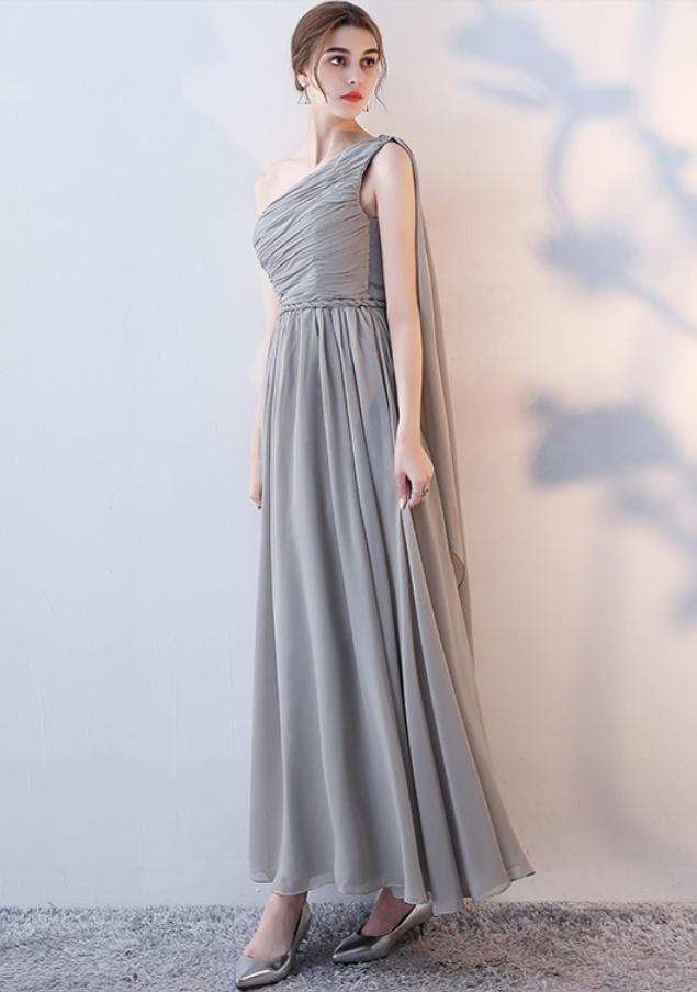 Robe de demoiselle d'honneur Laçage Sans Manches Mousseline A-ligne 11