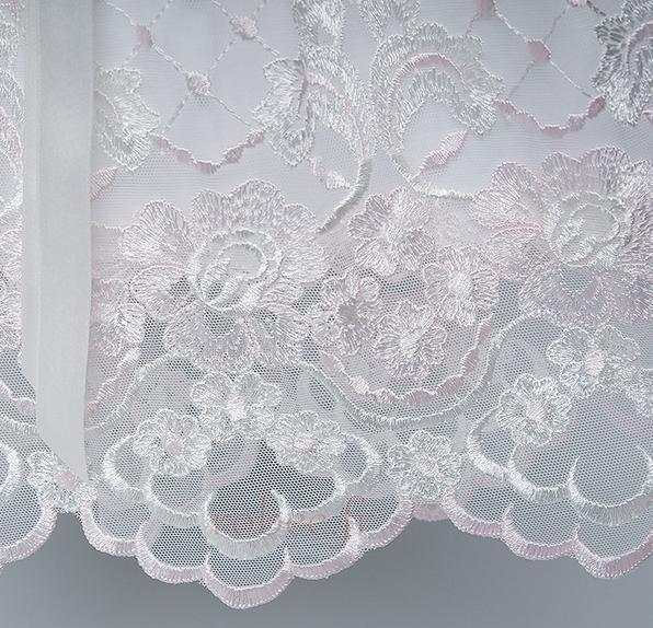 Robe de fille de fleur Princesse Dentelle Petit collier circulaire 4