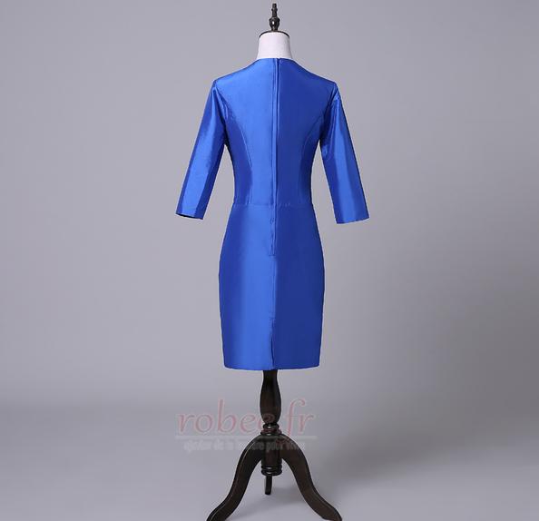 Robe mères Bleu Fer à cheval Fleurs Maigre Formelle Taffetas 2