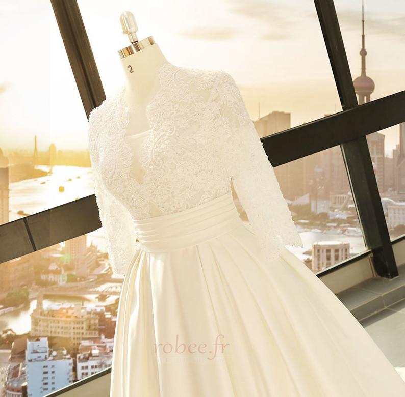 Robe de mariage Décalcomanie Trou De Serrure Manche de T-shirt 4