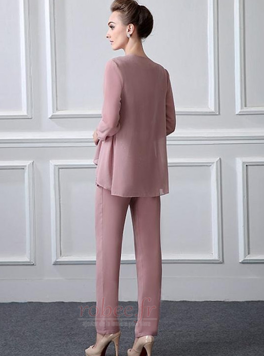 Robe mères Col Carré Elégant Manche de T-shirt Avec la veste 3