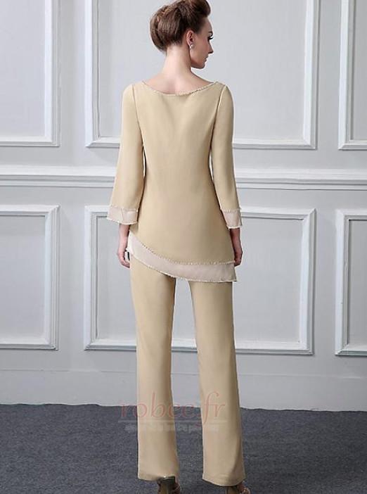 Robe mères Col Bateau Manche de T-shirt Haute Couvert Perle Naturel taille 2