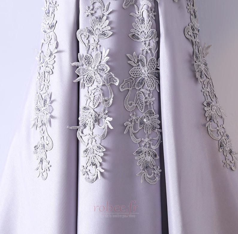 Robe de demoiselle d'honneur Luxueux Festin Sans Manches Dos nu 4