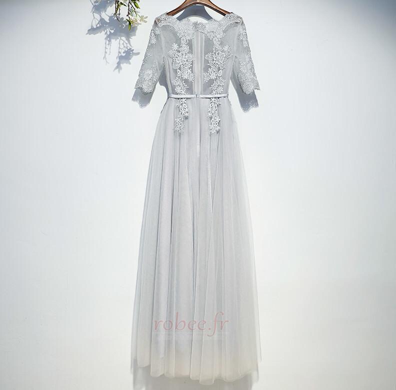 Robe de demoiselle d'honneur Manche Aérienne Festin Vintage Gaze 2