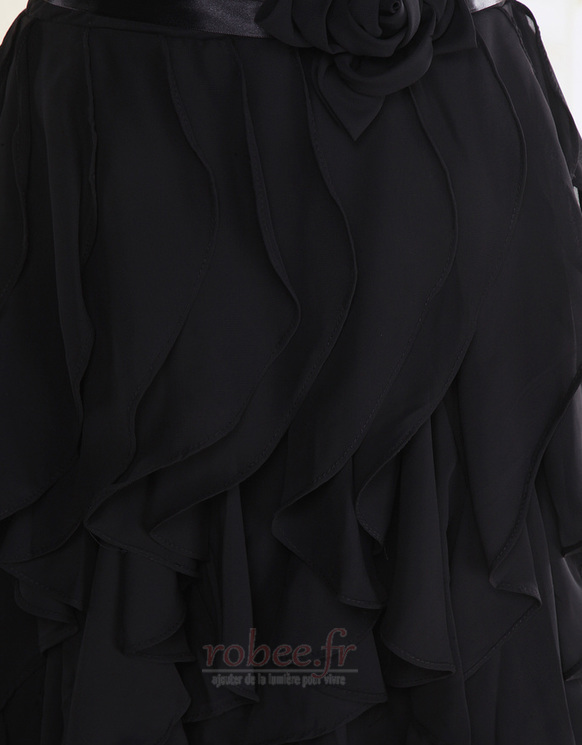Robe de demoiselle d'honneur Fourreau plissé Taille chute Sablier 6