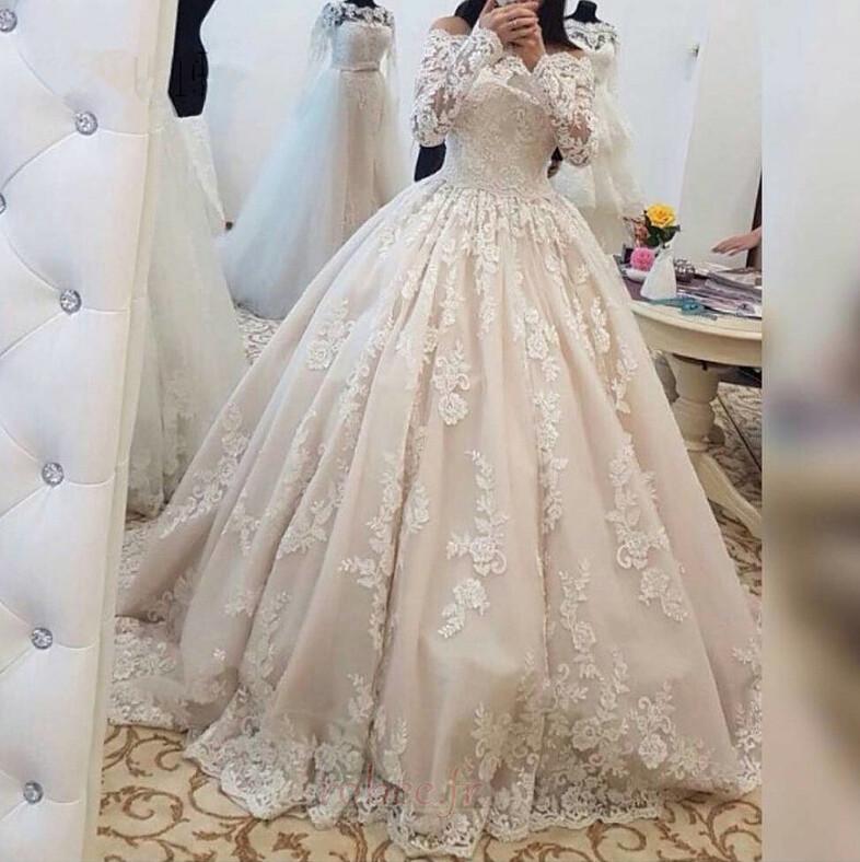 Robe de mariée Fermeture éclair Hiver Soie Dentelle Manquant 1