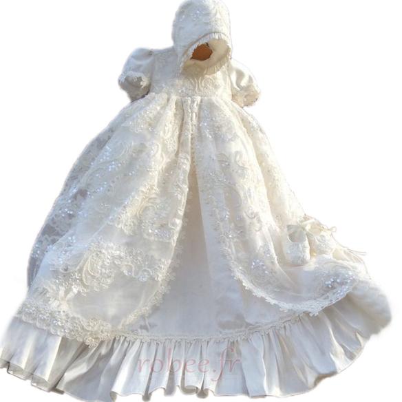 Robe de fille de fleur Luxueux Dentelle Haute Couvert Lanterne 1