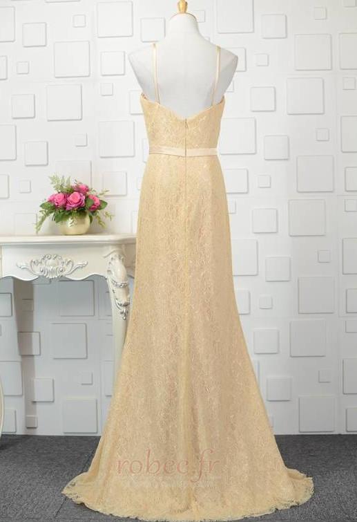 Robe de demoiselle d'honneur Longue Sans Manches Naturel taille 2