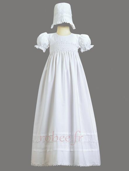 Robe de fille de fleur Cérémonie Naturel taille Exquisite Fermeture à glissière 2