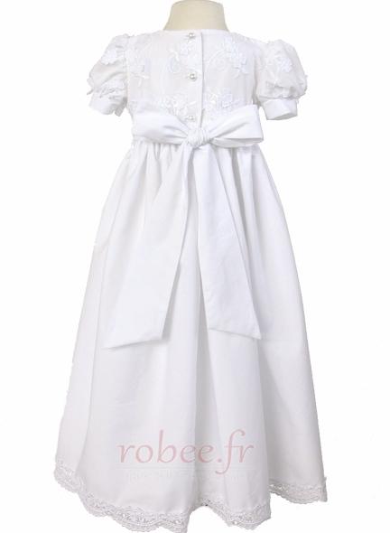Robe de fille de fleur Princesse Haute Couvert Cérémonial Manche Courte 2