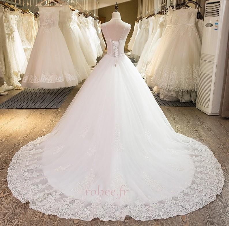 Robe de mariée Dentelle Col Bateau Naturel taille Tulle Médium 2