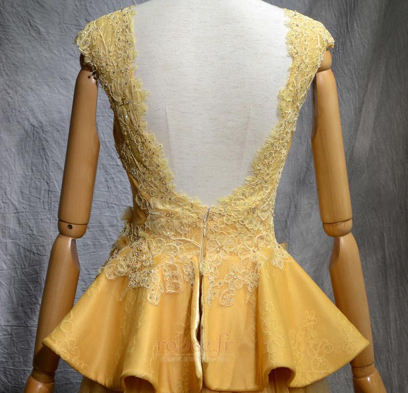 Robe de bal Vintage Tulle A-ligne Train de balayage Manquant 5