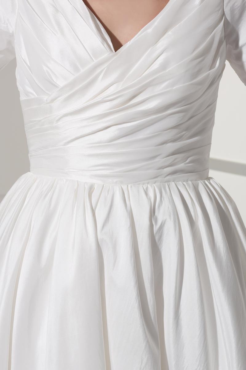 Robe de mariée Courte Haute Couvert Col en V Foncé Naturel taille 5